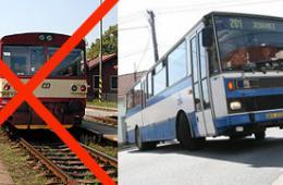 Výluka na železnici na Frýdlantsko