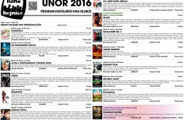 Kino Hejnice a jeho program na únor