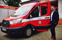 Předání vozidla psovodům SDH Hejnice