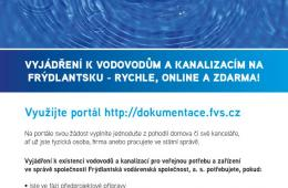 Vyjádření vodárny nově on-line