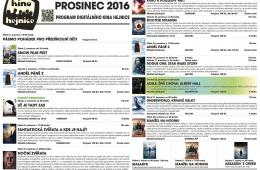 Kino Hejnice a jeho program na prosinec