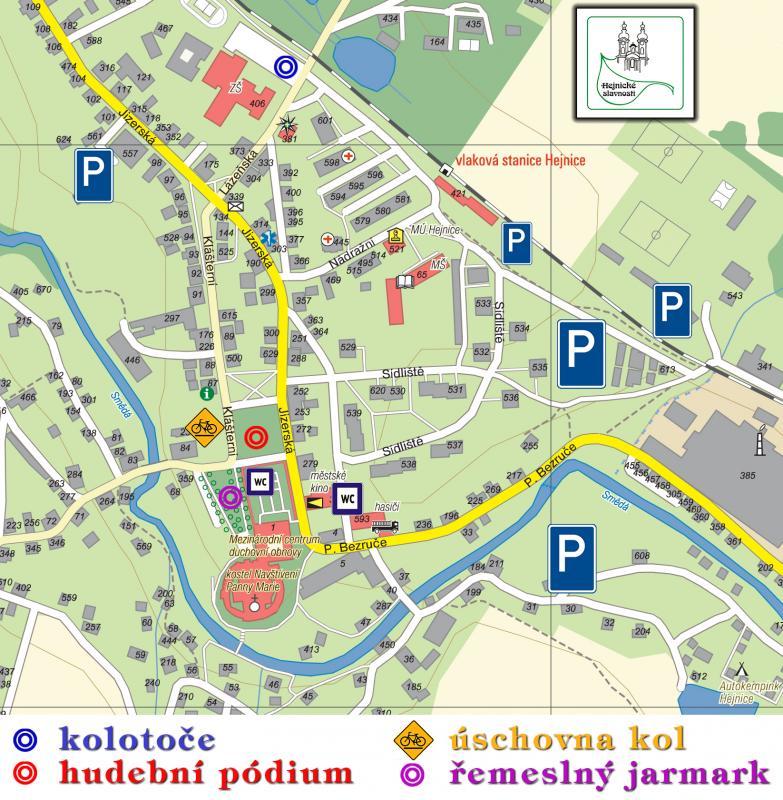 mapa Hejnice 2012, obrázek se otevře v novém okně
